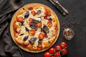 plat lag heerlijk pizza concept foto