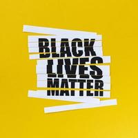 zwarte levens zijn belangrijk teken foto
