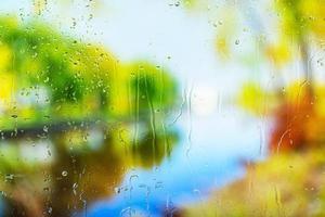 achtergrond regendruppels close-up foto