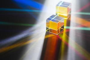 kleurrijke licht prisma's reflectie achtergrond foto