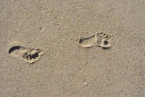 voetafdrukken in zand foto