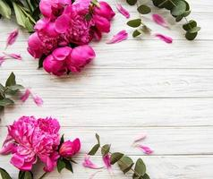 achtergrond met roze pioenrozen foto