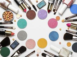 make-up plat leggen foto