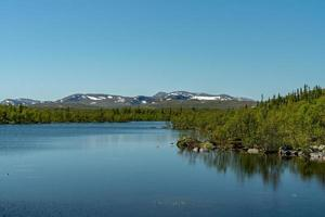 Zweedse hooglanden in de zomerzon foto