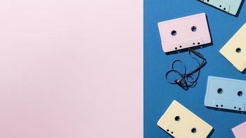 cassettebandjes achtergrond met kopie ruimte foto