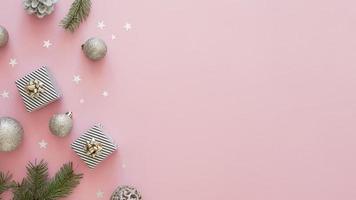 prachtig kerst concept met kopie ruimte foto