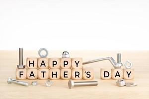 gelukkig vaders dag concept foto
