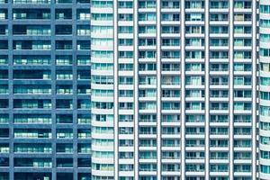 prachtig exterieur gebouw en architectuur met raampatroon foto