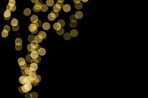 close-up van bokehlichten met exemplaarruimte foto