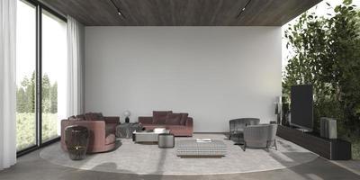 moderne eigentijdse woonkamer foto