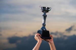 de winnaar en het succesvolle concept foto