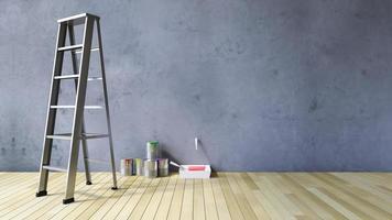 3ds lege muur en tekengereedschappen foto