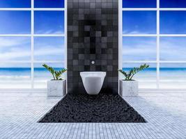 3D toilet interieur foto