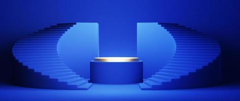 achtergrond met blauwe geometrische compositie foto