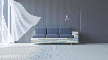 3D-interieur woonkamer foto