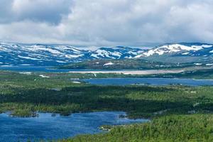 prachtig landschapsmening van de Zweedse hooglanden foto
