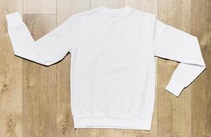 witte casual hoodie foto