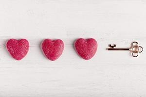 sleutel hart arrangement foto