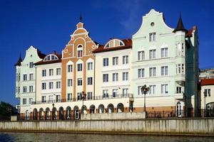 het stedelijke landschap van de stad Kaliningrad foto