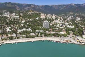 luchtfoto van het stedelijk landschap. foto
