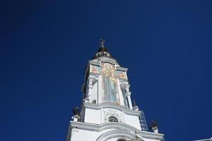 aantrekkelijkheid van de krim-de kerk-vuurtoren van st. Nicholas foto