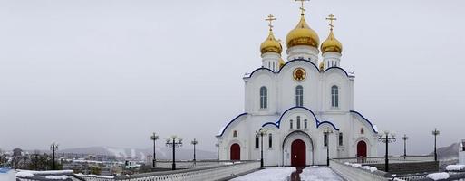 russisch orthodoxe kathedraal - petropavlovsk-kamchatsky, rusland foto