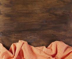 tafelkleed op houten achtergrond foto