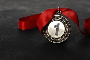 eerste plaats medaille foto
