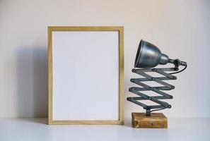 lamp frame. mooi fotoconcept van hoge kwaliteit en resolutie foto