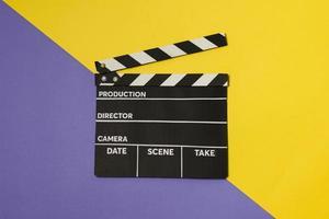 bovenaanzicht film leisteen tafel. mooi fotoconcept van hoge kwaliteit en resolutie foto