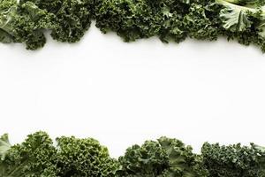 bovenaanzicht boerenkoolsalade met kopie ruimte. mooi fotoconcept van hoge kwaliteit en resolutie foto