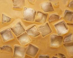 ijskoffie close-up bekijken foto