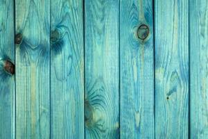 oude geschilderde blauwe houtstructuur of achtergrond foto