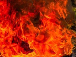 brand vlammen achtergrondstructuur foto