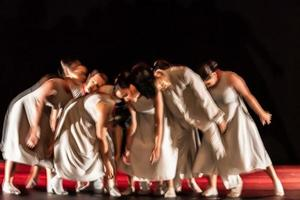 de abstracte beweging van de dans foto