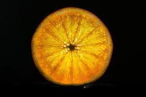 achteraan verlicht oranje foto