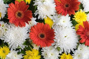 gemengde bruiloft bloem multi gekleurde bloemen achtergrond foto