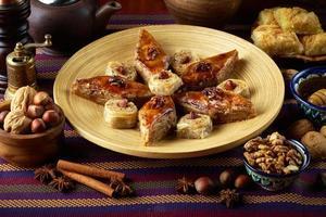 oosterse dessertbaklava foto