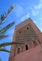 belangrijkste moskee van Marrakech foto