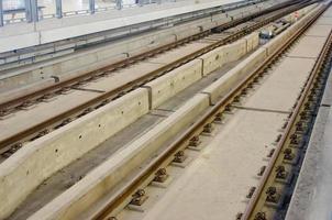 elektrische rail close-up foto