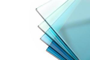 glasplaten uit een fabriek foto