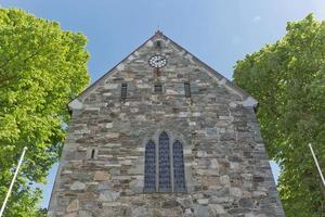 kathedraal van stavanger in stavanger is de oudste kathedraal van noorwegen foto