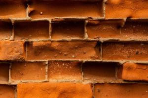 oude rode bakstenen muur textuur achtergrond close-up foto