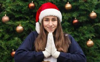 bid voor kerstmis foto