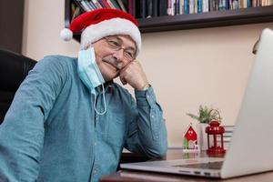 kerst online gefeliciteerd foto