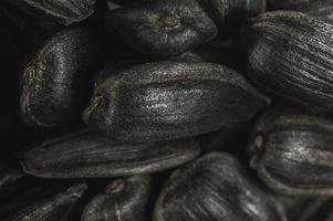 zwarte zonnebloempitten in macro foto