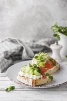 mooi arrangement van heerlijk eten foto