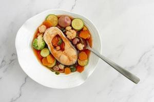 de samenstelling van de flexitarische dieetvoeding foto