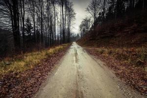 lange onverharde weg foto