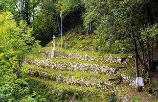 begraafplaats van de grote oorlog onder mount cimone in arsiero foto